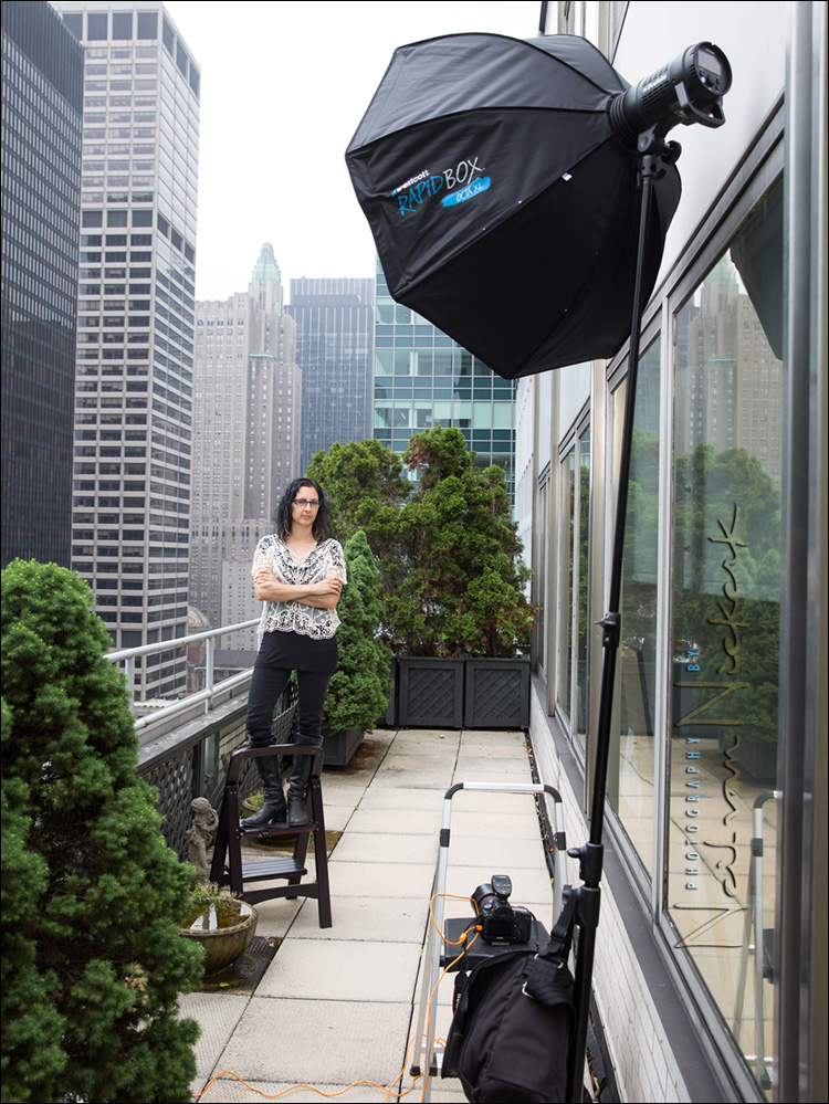 on-location lighting gear for headshots and portraits