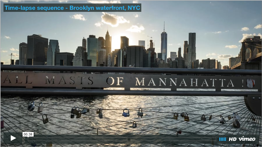 Time-lapse photography video clip – Brooklyn waterfront, NYC