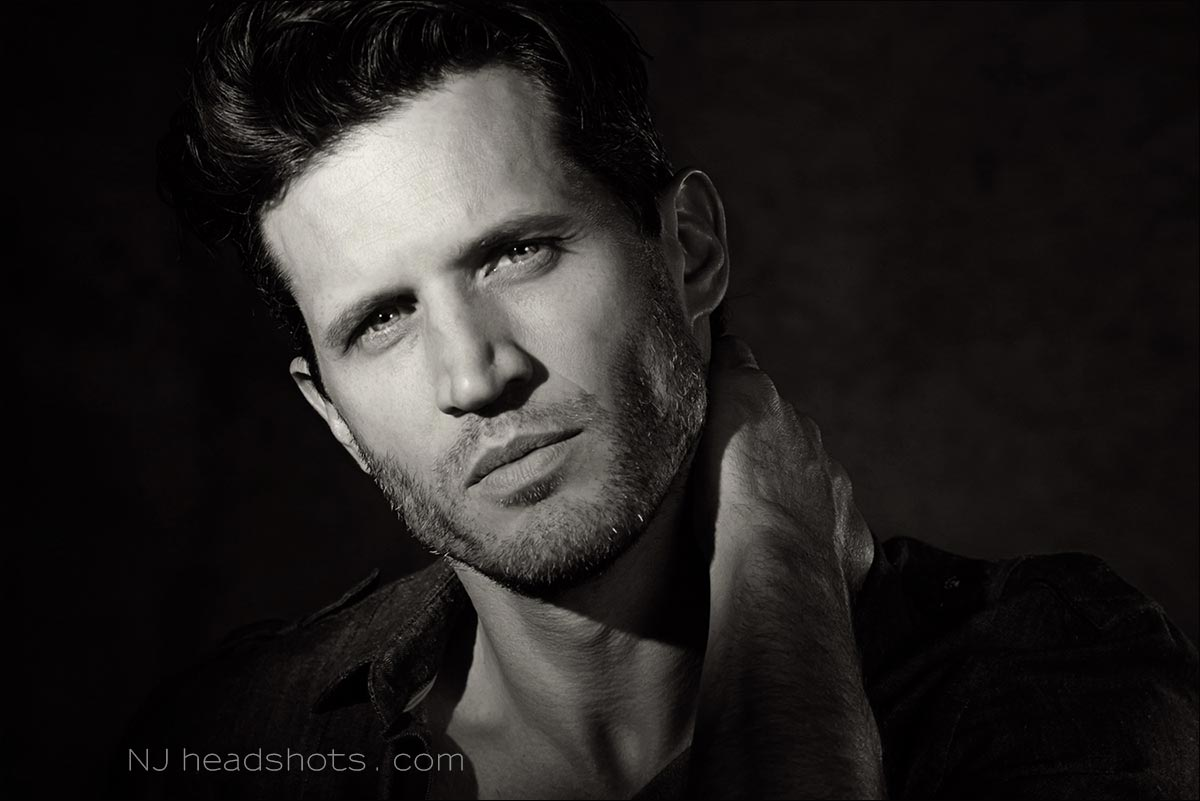 actor headshots NJ B&W black & white
