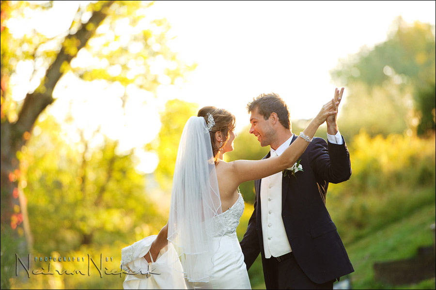 wedding photography - bride and groom dancing