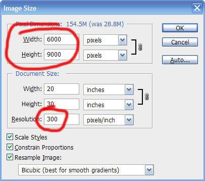 image size resolution 72dpi or 300dpi