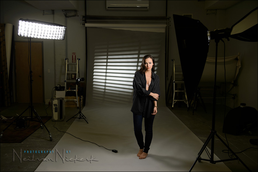 photography: image projection effects in the studio