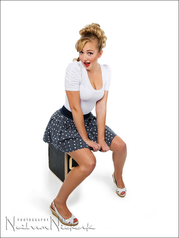 Pin Up Photography White On