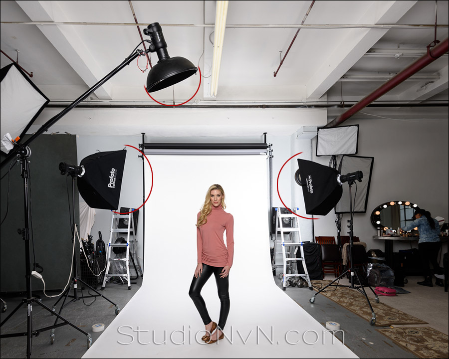fashion catalog photo shoot in the studio