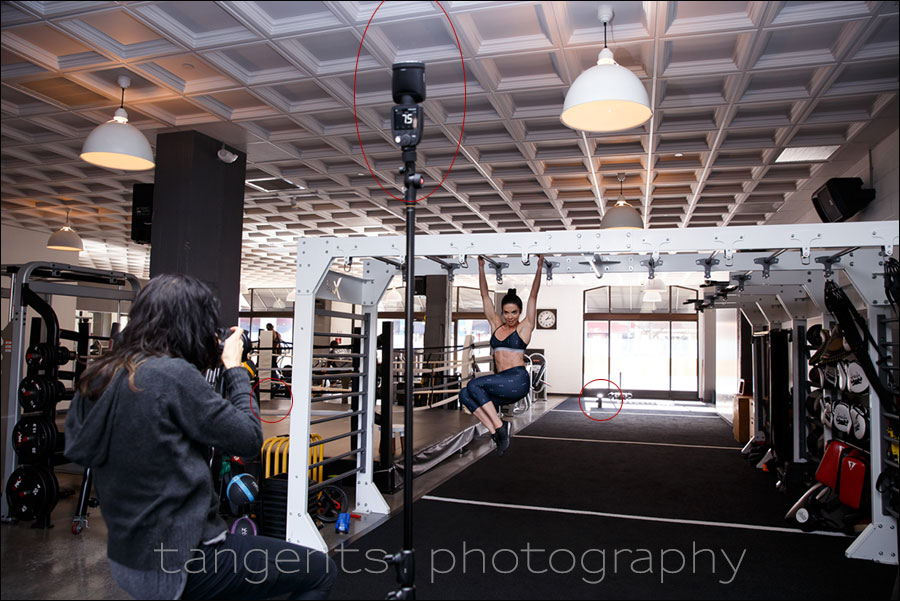 Fitness photography photo session in the gym tangents