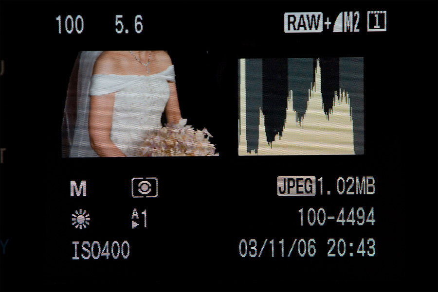 Using the histogram to determine exposure