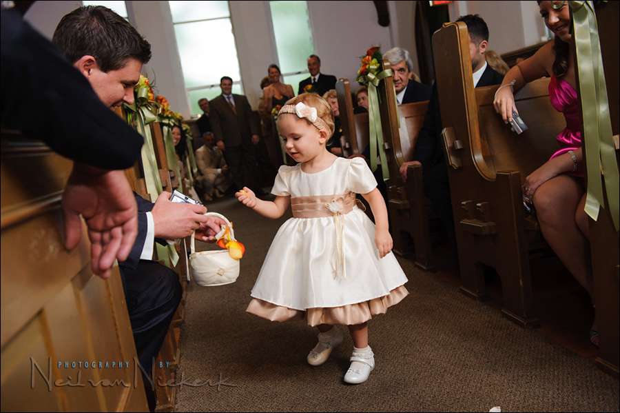 Photographing the wedding processional