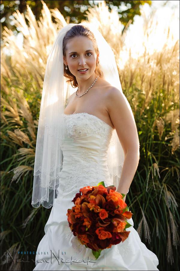 Exposure metering for the bride's dress