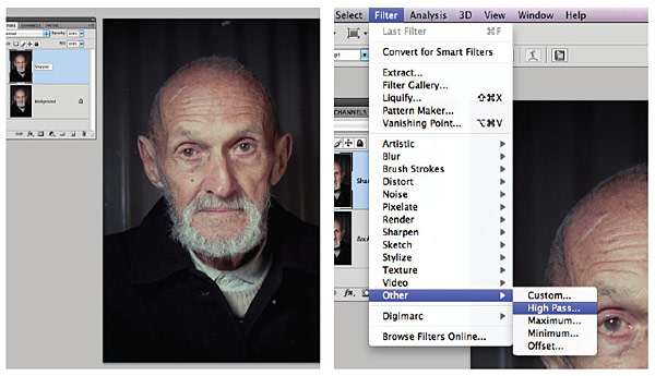 Photoshop action – selective sharpening (download)