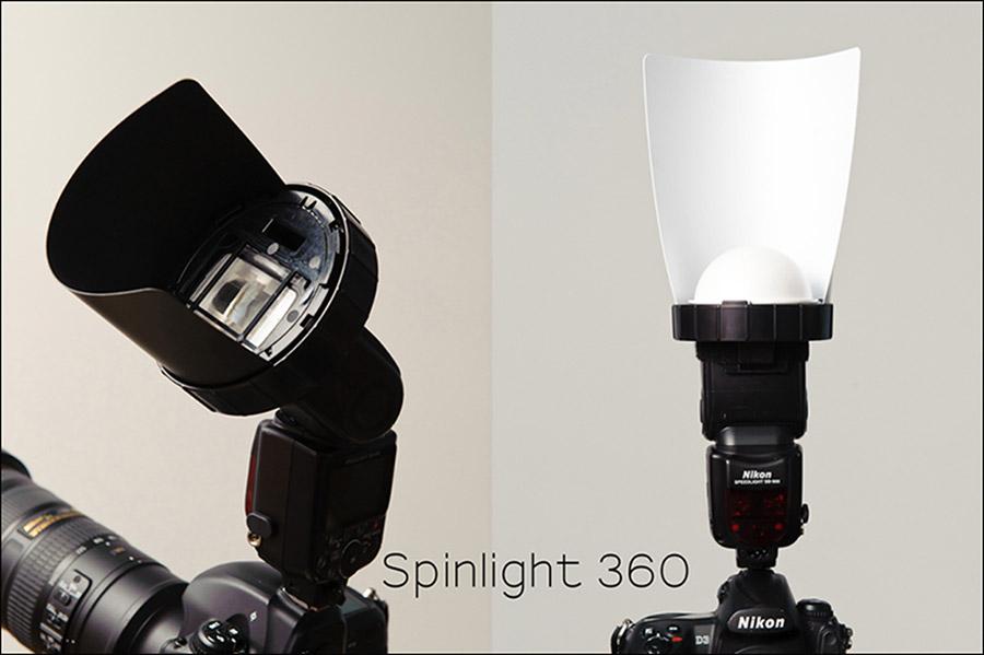 On-camera flash modifier – Spinlight 360