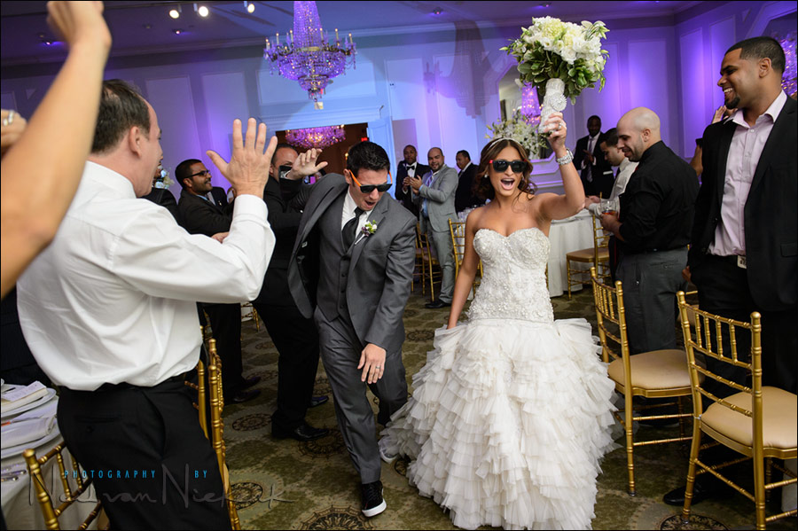 Bounce flash photography at wedding receptions