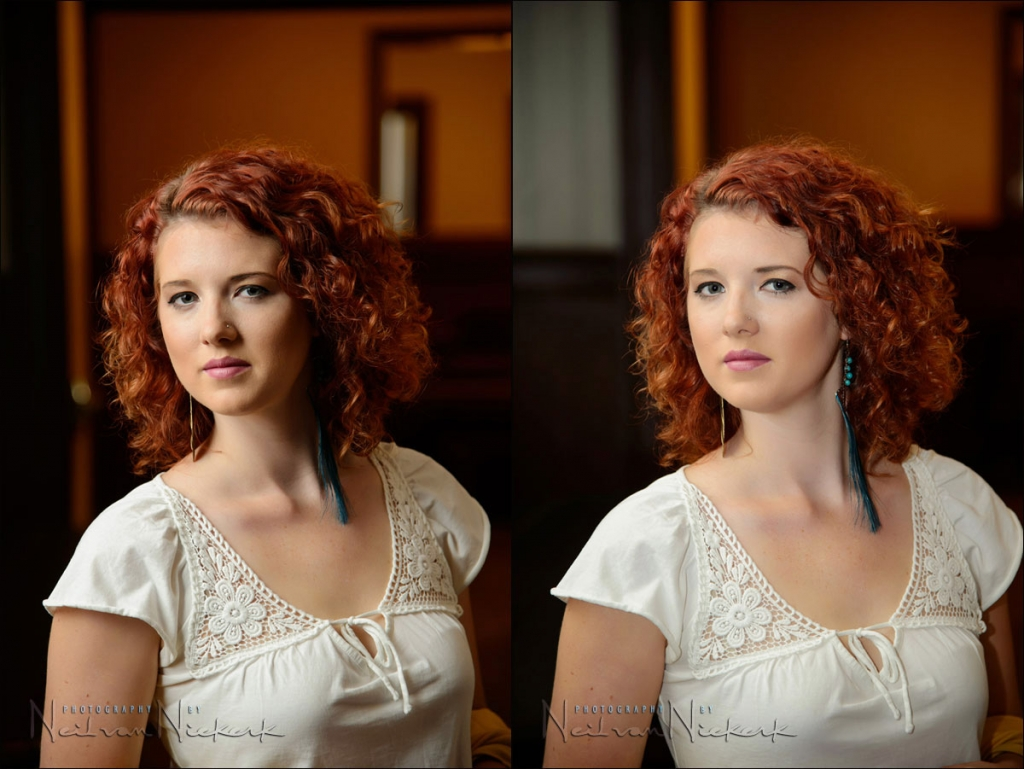 Bounce flash with and without the black foamie thing