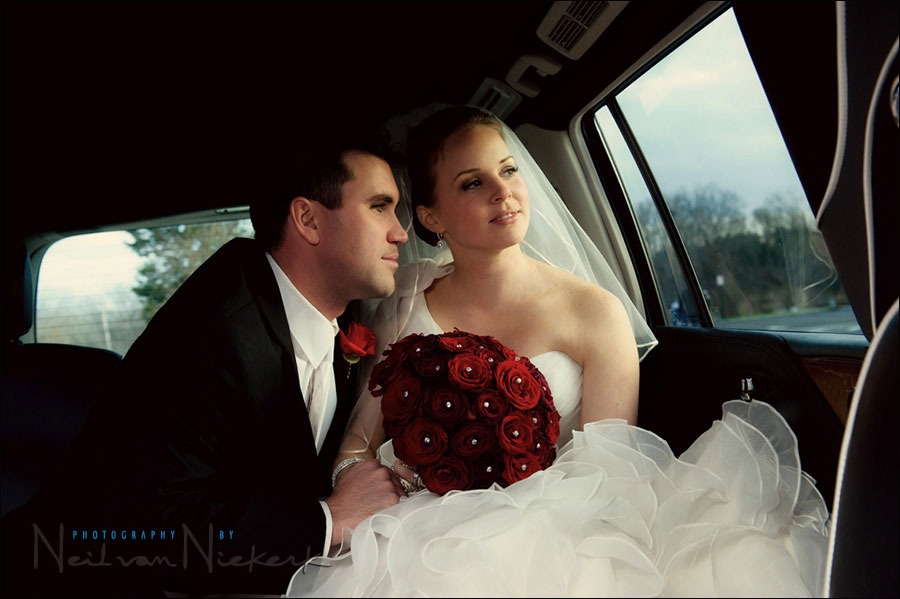 Wedding photography: Bounce flash indoors … in the limo