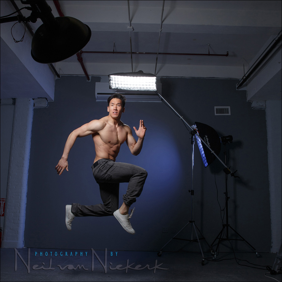 Fitness photo session in the studio