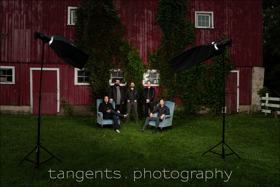 Lighting an on-location photo session – Home Free