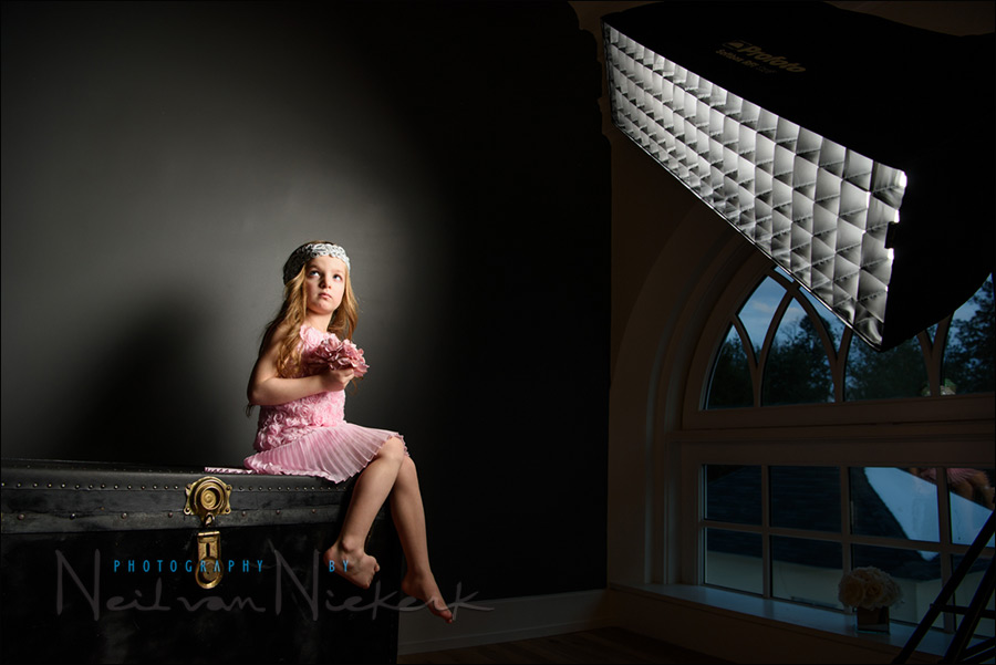 Profoto: How to use gridded strip boxes as the main light