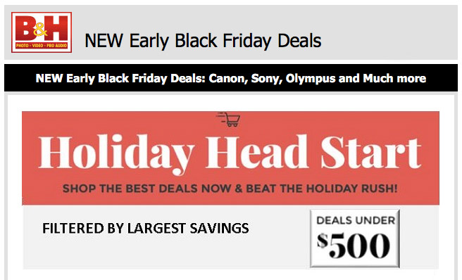 promotion: Early Black Friday deals from B&H
