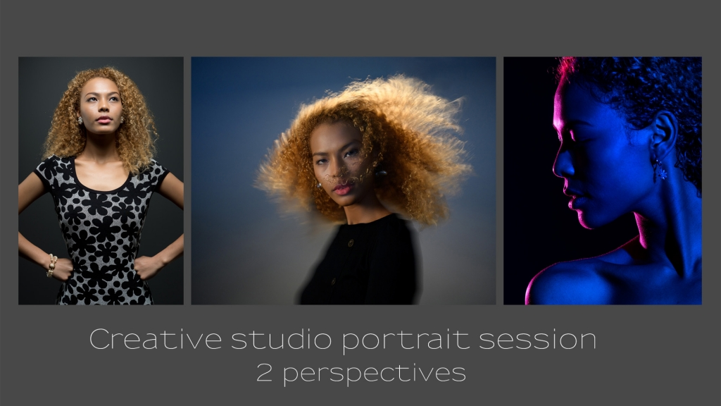 video: Creative studio portrait session – two perspectives