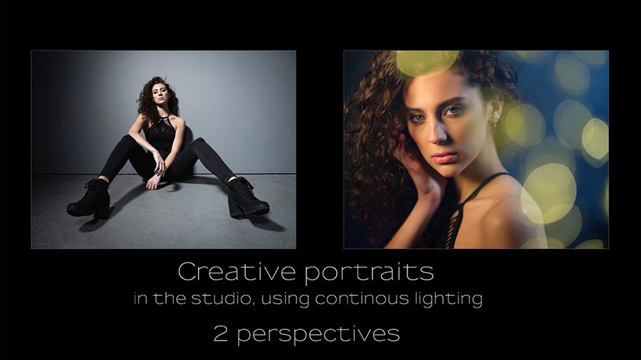 Creative studio portraits with continuous lighting – two perspectives